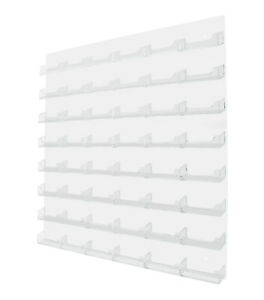 48 Pocket Business Gift Card Holder Acrylic Wall Display Rack White W Clear