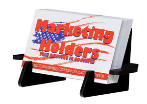 Business Card Holder Gift Card Stand 3 Peace Black Table Or Desk Top Qty 20