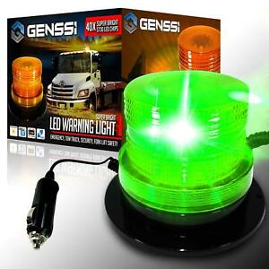 40 Led Emergency Flash Strobe And Rotating Beacon Warning Light 15w Green