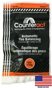 4 Bags 6 Ounce Counteract Tire Balancing Beads 6 Oz With Valve Core
