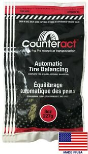 4 Bags 8 Ounce Counteract Tire Balancing Beads 8 Oz With Valve Core