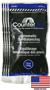 4 Bags 12 Ounce Counteract Tire Balancing Beads 12 Oz With Valve Core