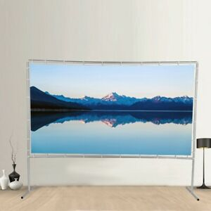 120 Projector Screen Portable Indoor Outdoor Projection With Stand