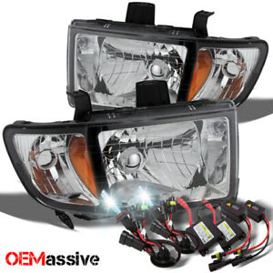 Fit 06 14 Honda Ridgeline Replacement Clear Headlights 6000k White Hid