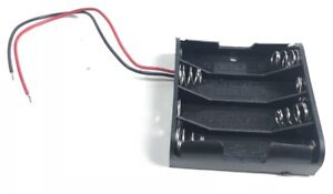 Plastic Battery Storage Case Box Holder For 4 X Aa 4xaa 2a 6 0v Wire Leads