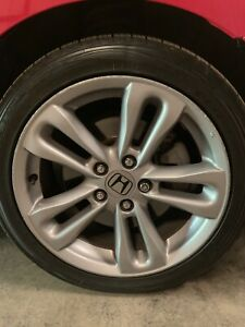 Honda Civic Si 17 2006 2008 Silver Factory Oem Rim Wheel With Tires