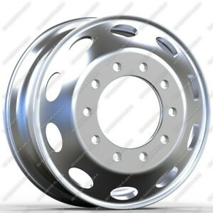 22 5 X 8 25 Aluminum Hd Truck Trailer Polished Wheel Rims Hub Oval Style 10 Lug