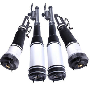 4x Front Suspension Air Spring Bag Struts For Mercedes Benz S class W220 Shock