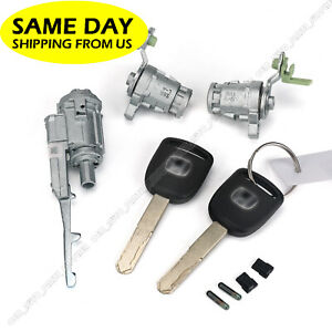 Ignition Switch Door Lock Cylinder For Honda 03 05 Civic 05 06 Cr V With 2 Key