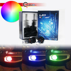 Multi color Rgb Led Front Fog Lights For 2017 2019 Jeep Wrangler Jl App Control