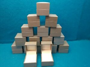 Lot Of 17 Hinged Ring Presentation Boxes pewter Color