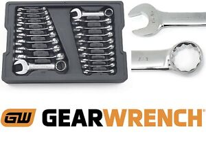 Gearwrench 81903 20 Piece Stubby Wrench Set Sae Metric New Free Shipping Usa