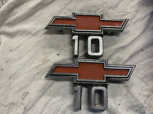 Chevy Truck Red Bowtie 10 Metal Emblem Oem Nice