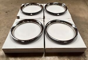 15 Stainless Steel Chrome Trim Rings Chevy Ford Mopar Amc Rally Wheels J16142