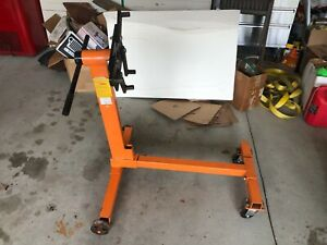 1000 Lb Engine Stand Folding Motor Hoist Dolly Mover Auto Repair Rebuild Jack