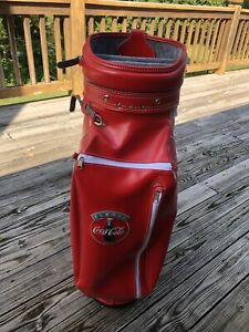 Vintage Always Coca Cola Golf Bag Red/White Trim Hot-Z Made in USA Faux Leather