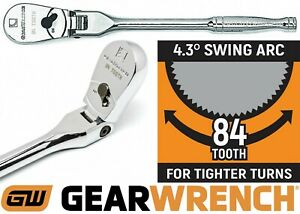 Gearwrench 81012f 84 Tooth 1 4 Drive Full Polish Flex Head Ratchet 7 New Usa