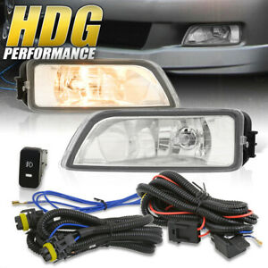 For 2004 2008 Acura Tl 2003 2007 Honda Accord Clear Fog Lights W Wiring Kit