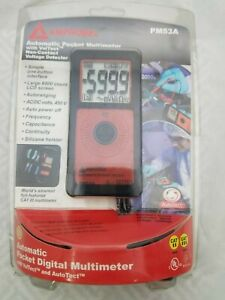 Amprobe Pm53a Automatic Pocket Digital Meter With Non Contact Voltage Detector