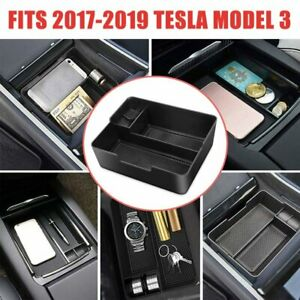 For Tesla Model 3 2017 19 Accessories Box Center Console Organizer Holder Abs D