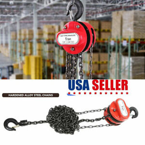 1 T Chain Puller Block Fall Chain Lift Hoist Hand Tools Chain With 3 Meter Chain