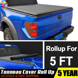 Fits 2016 2018 Nissan Frontier Lock Soft Roll Up Tonneau Cover 5 Ft 60 Bed