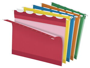 Pendaflex Ready tab Reinforced Hanging File Folders 5 Tab Letter Assorted