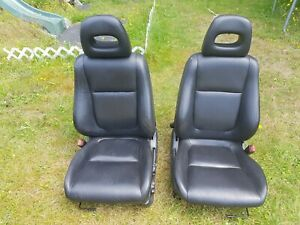 94 01 Acura Integra Gsr Coupe Oem Front Black Leather Seats Dc2 Db8 Eg6 Eg9 Em1