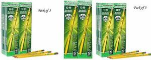 Ticonderoga Wood cased Graphite Pencils 2 Hb Soft Yellow 96 Count 13872 3 Pak