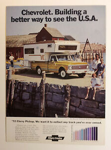 1972 Chevy Pickup Truck Ad Must See