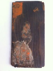 Antique Japanese Woodblock Printing Block Hand Carved Two Sided Printing Block