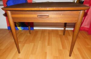 Vintage Mid Century Modern Lane End Side Accent Table W Drawer Serial No 360311