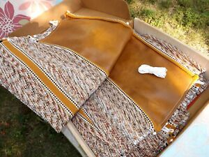 Nos Universal Truck Car Bench Seat Cover Saddle Blanket Fabric Vintage 1970s