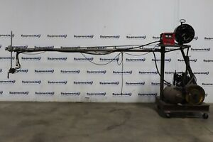 Lincoln Ln 8 Multiprocess Wire Feeder Squirt Welder On 12 Boom Arm Cart