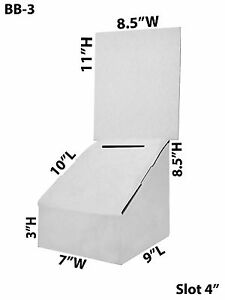 Cardboard Suggestion Donation Collection Ballot Box 6 X 8 X 8 Lot Of 50