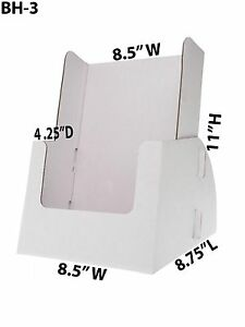 Cardboard Brochure Holder 8 3 4 X 11 Catalogs Countertop Displays Lot Of 100