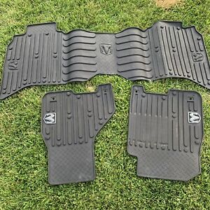 2009 2016 Dodge Ram 1500 Crew Cab Oem All Weather Rubber Slush Floor Mats