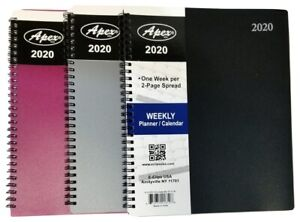 2020 Weekly monthly Spiral Bound Planner With Durable Vinyl Cover 8 In X 10 In