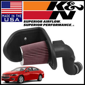 K n Aircharger Cold Air Intake System Kit Fits 2016 2018 Chevy Malibu 2 0l L4