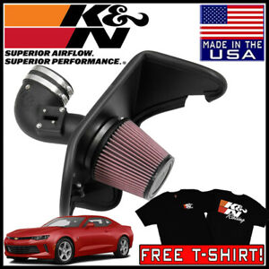 K n Aircharger Cold Air Intake System Kit Fits 2016 2019 Chevy Camaro 2 0l L4
