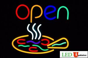 Pizza Restaurant Led Open Sign 22 x19 Large Size With On off Switch Ul Power