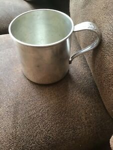 Sterling Silver Plated Baby Cup Marked Queen Bess Tudor Plate Oneida Community