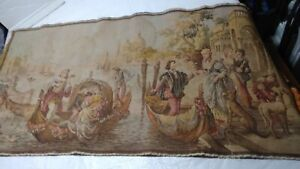 Larger Victorian Tapestry 38 X 19 5 Florence Italy Detailed Lovely Free Ship