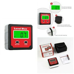 Digital Protractor Angle Finder With Magnetic Base And Backlight Level Box New