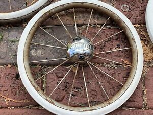 Lot Of 4 Vintage Bilt Rite Metal Baby Stroller Walker 50s60s Wheels Parts