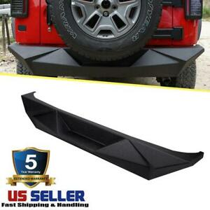 For 2007 2018 Jeep Wrangler Jk Rear Bumper Angry Style Black Oem Replace