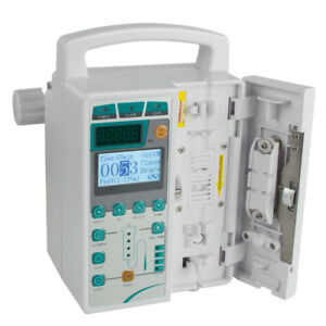 Infusion Pump Iv Fluid Equipment Voice Alarm Monitor Kvo Purge Memory Clinic