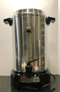 West Bend 13500 Highly polished Aluminum Commercial Coffee Urn