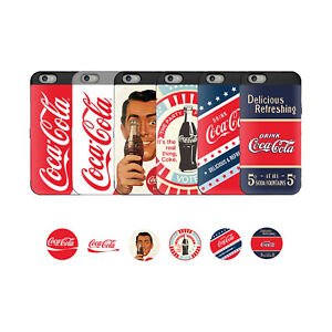 New Cocacola Mirror Card Pocket Phone Back Case Cover For iPhone 8 8Plus