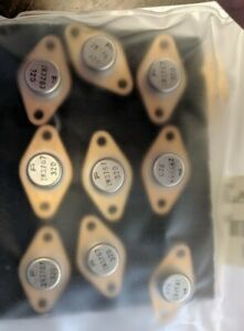 Lot Of 9 New Fairchild 2n3767 To 66 Npn Power Silicon Transistor Surplus